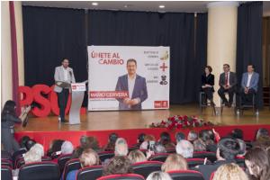Acto de candidatura de Mario Cervera