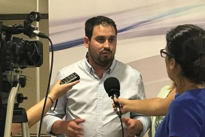 Rueda de prensa del portavoz y Secretario General del Psoe de Los Alcázares